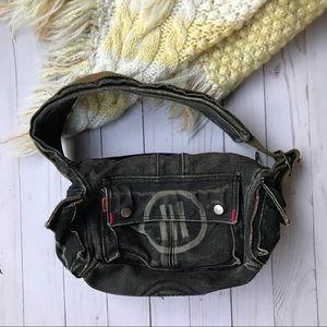 Y2k Vintage lll Parcel Military Denim Shoulder Bag